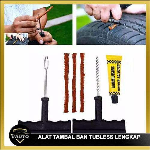 Foto Produk Tubeless Tire repair kit alat tambal ban tubles lengkap dari vauto