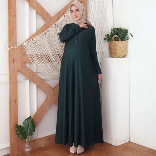 Foto Produk Baju Gamis Wanita Terbaru Gamis Calvin Jeans Polos Busui 8375 - NAVY dari Hitjab & Co
