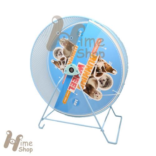 Foto Produk DaYang Silent Jogging Wheel 14 Mainan Roda Putar Besi Running Quiet - Biru dari Hime petshop
