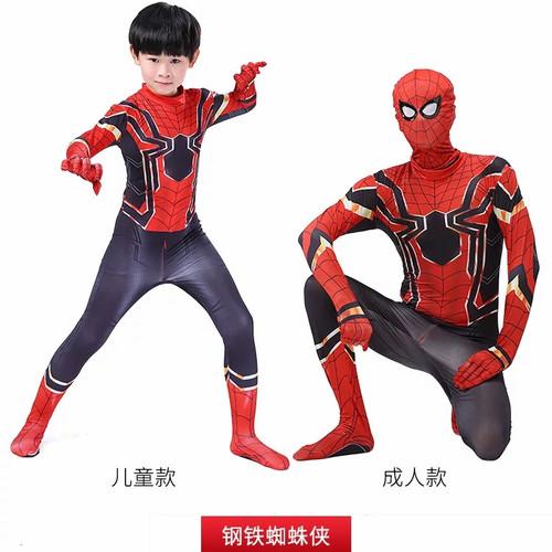 Foto Produk Kostum Spiderman Anak Avenger Superhero Costume laki costplay merah - M dari Mellyphang