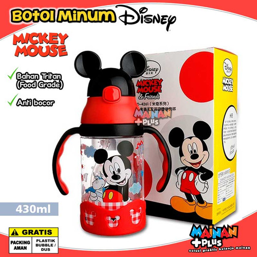 Foto Produk BOTOL MINUM ANAK DISNEY ORIGINAL TRITAN FOOD GRADE BPA FREE - MICKEY dari MainanPlus