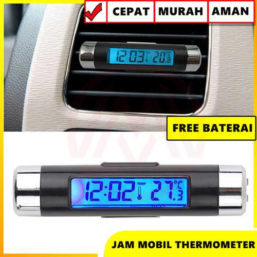 Foto Produk JAM DIGITAL DASHBOARD MOBIL TERMOMETER SUHU AC DENGAN LAMPU dari Modifikasi Market