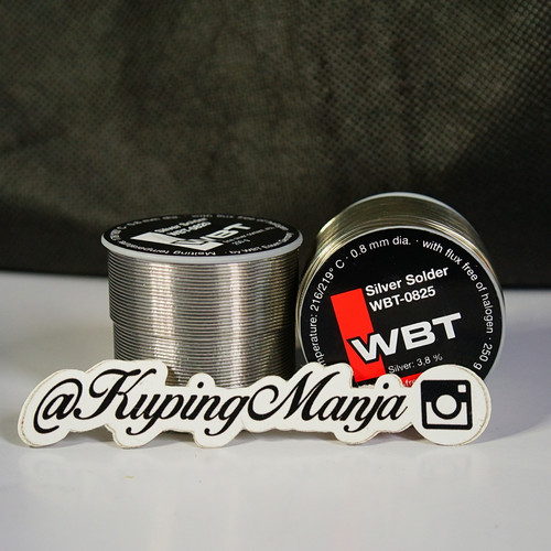 Foto Produk Timah Solder WBT 0820 Silver 4% Audio Grade Timah Solder WBT 0820 - 50 cm, 0825 dari Kuping Manja