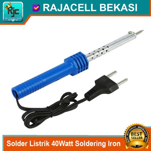 Foto Produk Solder Listrik 40W 40watt Alat patri timah Soldering Iron Repair Tools dari RAJACELL BEKASI