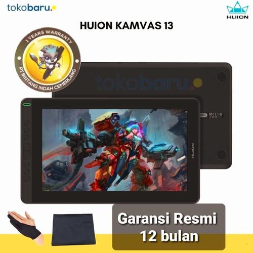 Foto Produk Huion Kamvas 13 Pen Tablet display Bonus Glove dan Softcase - Hitam dari tokobaru_official