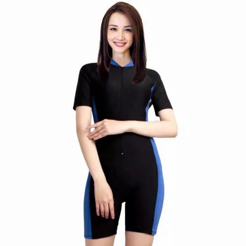 Foto Produk baju renang swimsuit diving unisex dewasa kombinasi - Biru, M dari Komplitdong