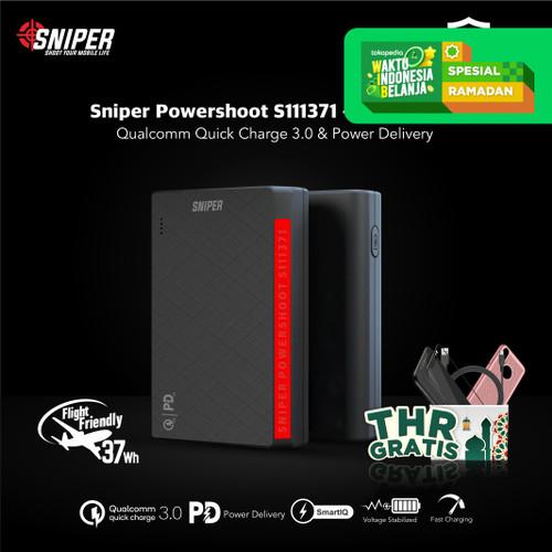 Foto Produk Sniper PowerShoot S111371 10000mAh - Powerbank Flight Friendly dari Sniper Indonesia