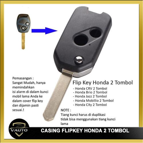 Foto Produk Casing Kunci Lipat Flipkey Honda CRV Mobilio City Jazz Brio 2 tombol dari vauto