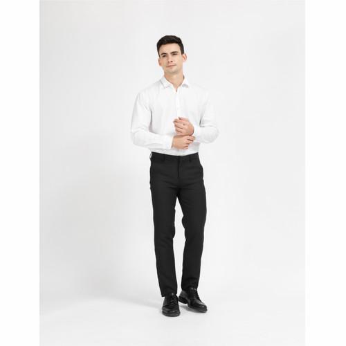 Foto Produk Celana Kerja Formal Kantor Bahan Pria SLIMFIT Hitam Panjang - Hitam, 27 atau 28 dari Laksa Kirana