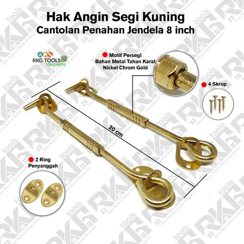 Foto Produk Hak Angin Kuning Lamskar Stainless l Penahan Cantolan Pengait Jendela dari RKG_Tools
