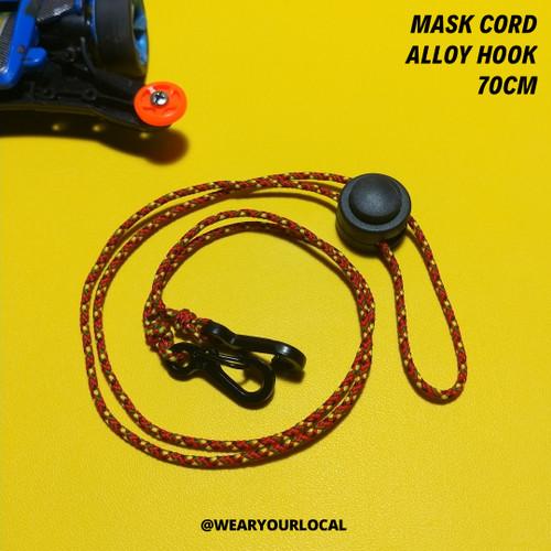 Foto Produk Mask Cord / Tali Masker / Tali Masker Sepeda / Kalung Masker DIY - merah kombinasi dari WYLSTORE