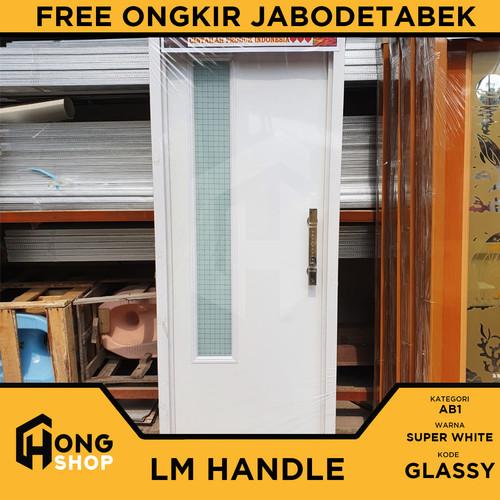 Foto Produk Pintu Kamar Mandi PVC TEBAL + KACA ES - LM Super White GLASSY - BUKAAN KIRI dari Hong Shop ID