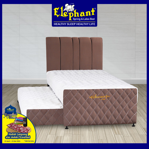 Foto Produk Springbed Elephant 2 in 1 Summer Komplit Set - Choco Radiance, 100 x 200 dari Elephant Springbed