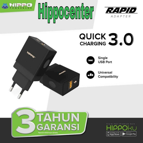Foto Produk Hippo Adapter Charger RAPID Quick Charging 3.0 Max Out Put 18W dari HippoCenter