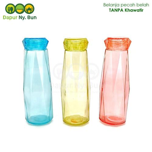 Foto Produk Botol Minum Kaca + Tutup Model Diamond Ukuran 485ml / Botol Kaca dari Dapur Ny.Bun