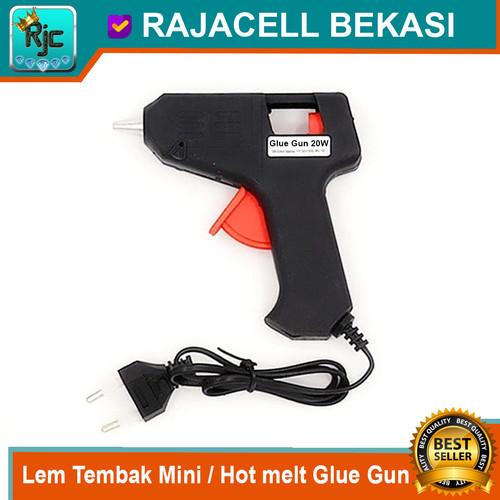 Foto Produk Lem Tembak mini Hot Melt Glue Gun 20W Alat Tembakan Lem Bakar Kecil dari RAJACELL BEKASI