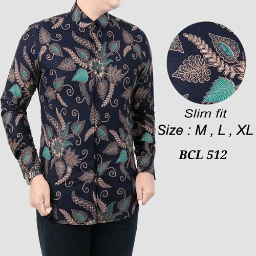 Foto Produk Batik Pria ,Kemeja Slimfit ,Baju Batik Modern Lengan Panjang D 368 dari Cemerlang Batik