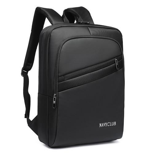 Foto Produk Navy Club Tas Ransel Pria Kasual FCIJ -Backpack Daypack up to 14 inchi - Black dari Navy Club Official Store