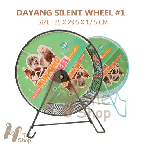 Foto Produk DaYang Silent Jogging Wheel 13 Mainan Roda Putar Besi Running Quiet - Biru dari Hime petshop