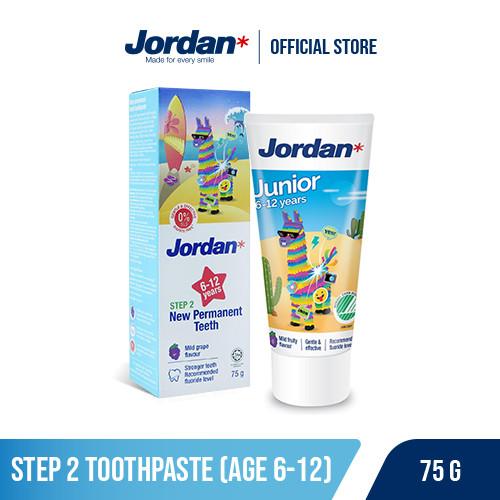 Foto Produk Jordan Oral Care Kids Toothpaste Step 2 - Pasta Gigi Anak dari Jordan Indonesia Official Shop