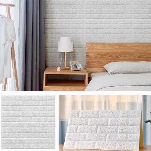 Foto Produk Wallpaper Dinding 3D Foam Batu Bata Waterproof 71 x 78cm dari one mobile 1