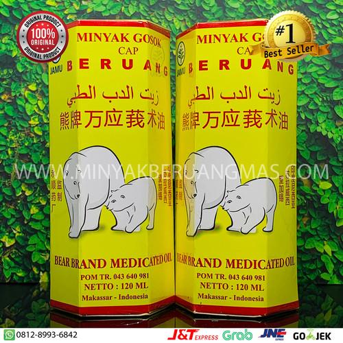 Foto Produk Minyak Gosok Cap Beruang 120ml dari Minyak Gosok Cap Beruang