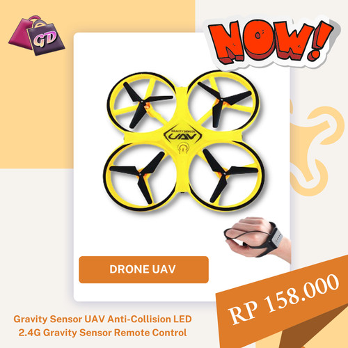 Foto Produk FIREFLY DRONE Anti-Collision LED 2.4G Gravity Sensor Aemote Control dari Gadget Distribusi