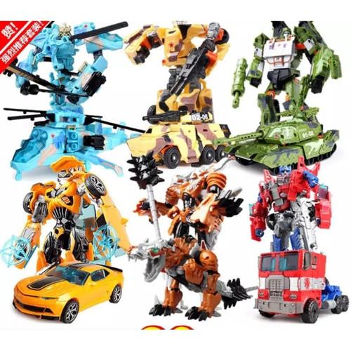 Foto Produk Mainan Robot Transformers Deformation 2 in 1 Optimus Prime Bumblebee - Tank dari Happy Indonesia