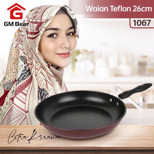 Foto Produk GM Bear Wajan Teflon 26 CM 1067-Fry pan 26cm dari GM Bear
