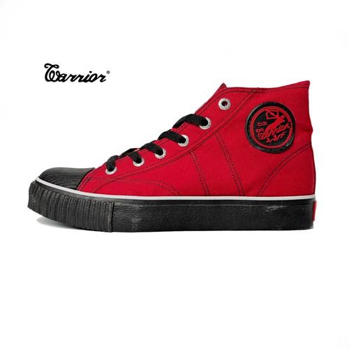 Foto Produk Sepatu Warrior Classic High Merah Hitam dari sepatu kodachi