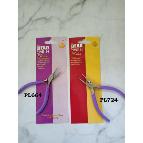 Foto Produk Tang Round Nose Purple Handle Beadsmith dari Studio Manik