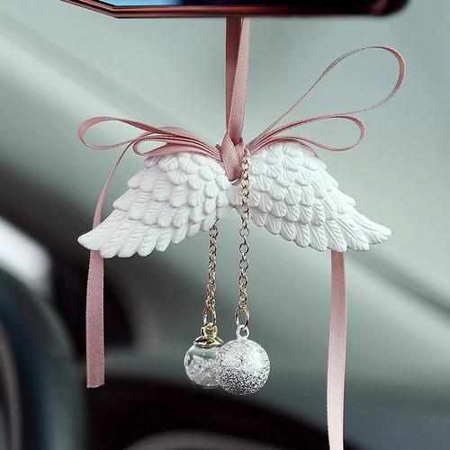 Foto Produk Car Pendant Angel Wings + Parfum Pewangi Gantungan Kaca Spion Mobil - Putih dari Gentleman Car