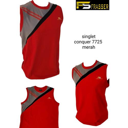 Foto Produk kaos singlet kutungan olahraga frasser conquer 7725 merah - L dari Pusat Grosir OLAHRAGA
