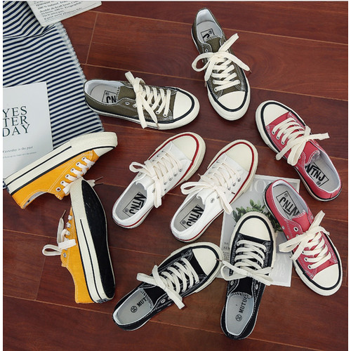 Foto Produk SH11 Sepatu Kanvas Wanita Korea Style Warna Warni Women Canvas Shoes - blue, 37 dari EnnWen Online Store