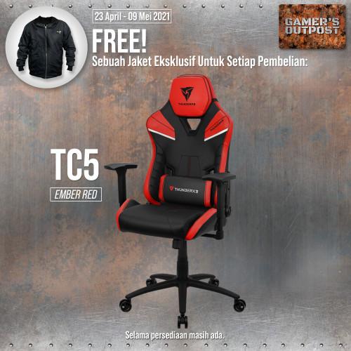 Foto Produk ThunderX3 Gaming Chair TC5 - Ember Red dari Gamer's Outpost
