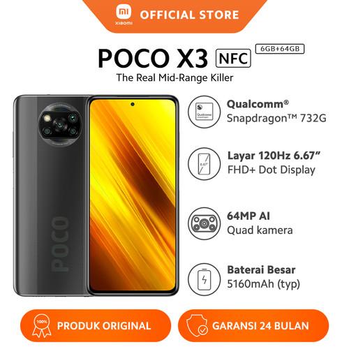 Foto Produk Xiaomi Official Poco X3 NFC 6/64GB Snapdragon™ 732G Mi Smartphone - Shadow Grey dari Xiaomi Official Store