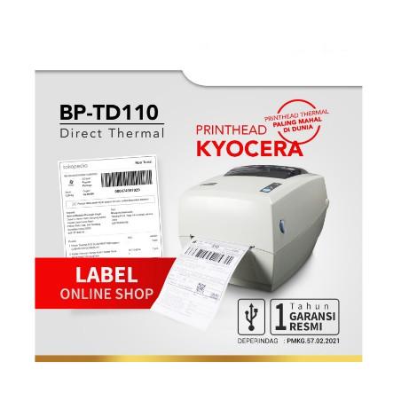 Foto Produk Printer BluePrint BP-TD110 USB Barcode Thermal Blue Print Label Resi dari PojokITcom Pusat IT Comp