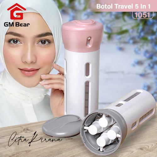 Foto Produk GM Bear Penyimpanan Botol Travel 4 In 1 - Travel Kit - Merah Muda dari GM Bear