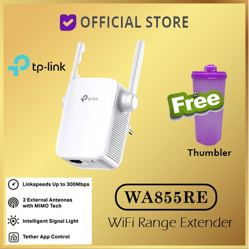 Foto Produk TP-Link TL-WA855RE - 300Mbps WiFi Range Extender TP LINK - TL WA855RE dari DUNIA COMPUTER & SERVICE