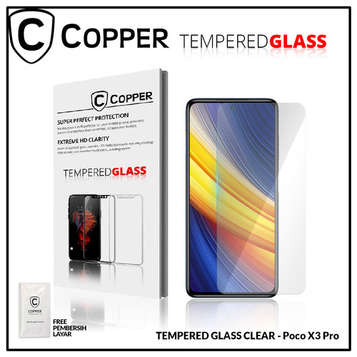 Foto Produk Poco X3 Pro - COPPER TEMPERED GLASS FULL CLEAR dari Copper Indonesia