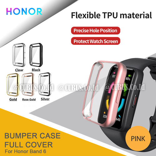 Foto Produk Bumper Rubber Case Full Cover For Honor Band 6 - Pink dari Cubus_Co_ID