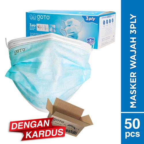 Foto Produk Goto Enviro Disposable Mask 3 Ply Masker Earloop Facemask 3Ply - 20 Pcs, Biru dari GOTO Indonesia
