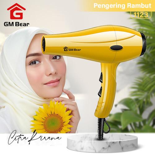 Foto Produk GM Bear Pengering Rambut Profesional Serbaguna - Hair Dryer - Kuning dari GM Bear