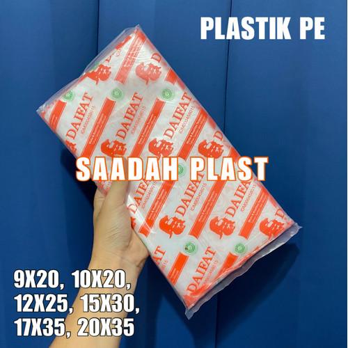 Foto Produk PLASTIK PE 10x20 12x25 15x30 / PLASTIK GULA ES BATU 1KG - PE 10x20 dari Saadah Plast