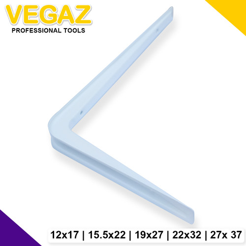 Foto Produk VEGAZ - Siku Bracket Plat Besi Siku Rak Putih Tebal Dinding Serbaguna dari Vegaz-Tools