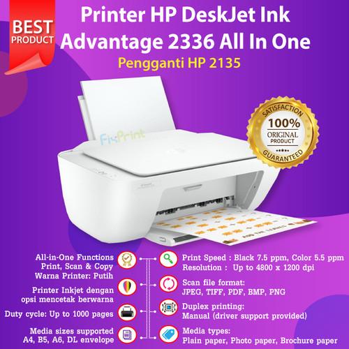 Foto Produk Printer HP 2335 2336 2337 Print, Scan, Copy Pengganti Printer 2135 New - White 2336 dari FixPrint Indonesia