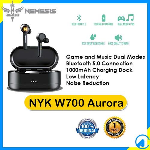 Foto Produk NYK W700 Aurora TWS Bluetooth 5.0 Gaming Earphone dari Artica Computer