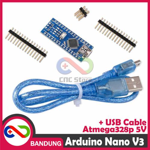 Foto Produk [CNC] ARDUINO NANO V3 3.0 ATMEGA328P CH340 CH340G 5V BOARD + USB CABLE dari CNC STORE BANDUNG