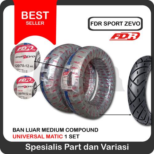 Foto Produk Sepasang FDR 120/70-12 & 130/70-12 Sport Zevo Ban New Scoopy Vespa dari Ledeng Motor Bandung