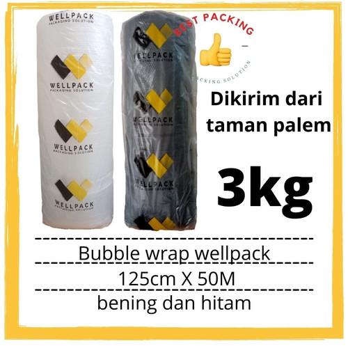Foto Produk bubble wrap roll bening hitam wellpack uk 125cm x 50m - Hitam dari best packing